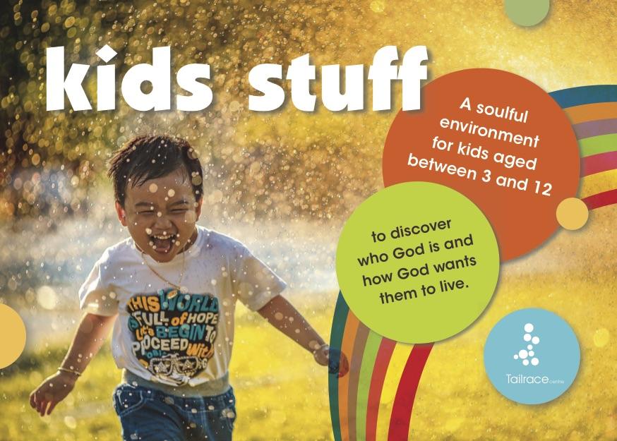 Tailrace Kids Stuff Program Postcard A6 141019